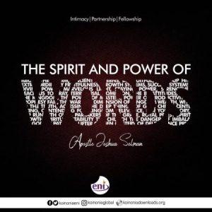 Download Koinonia Messages - The Spirit and Power of Words-Koinonia with Apostle Joshua Selman Nimmak