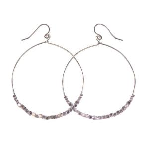 Shimmer Hoops Silver