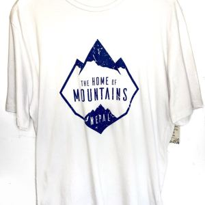 Home of Mountain White T-Shirt L