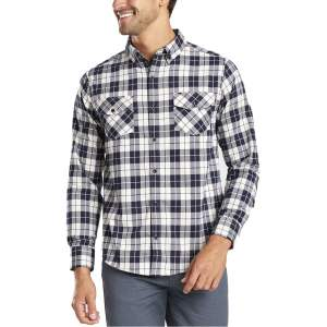 United by Blue MENS PICKMAN STRETCH PLAID S Crm/Navy