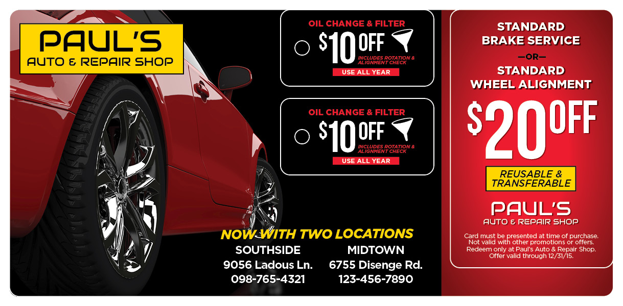 Plastic Postcards  Direct Mail for Auto Repair Centers