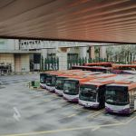 Busses in bus station