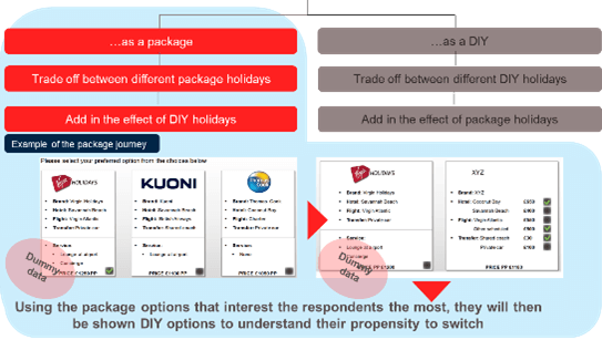 Holiday package trade-off exercise