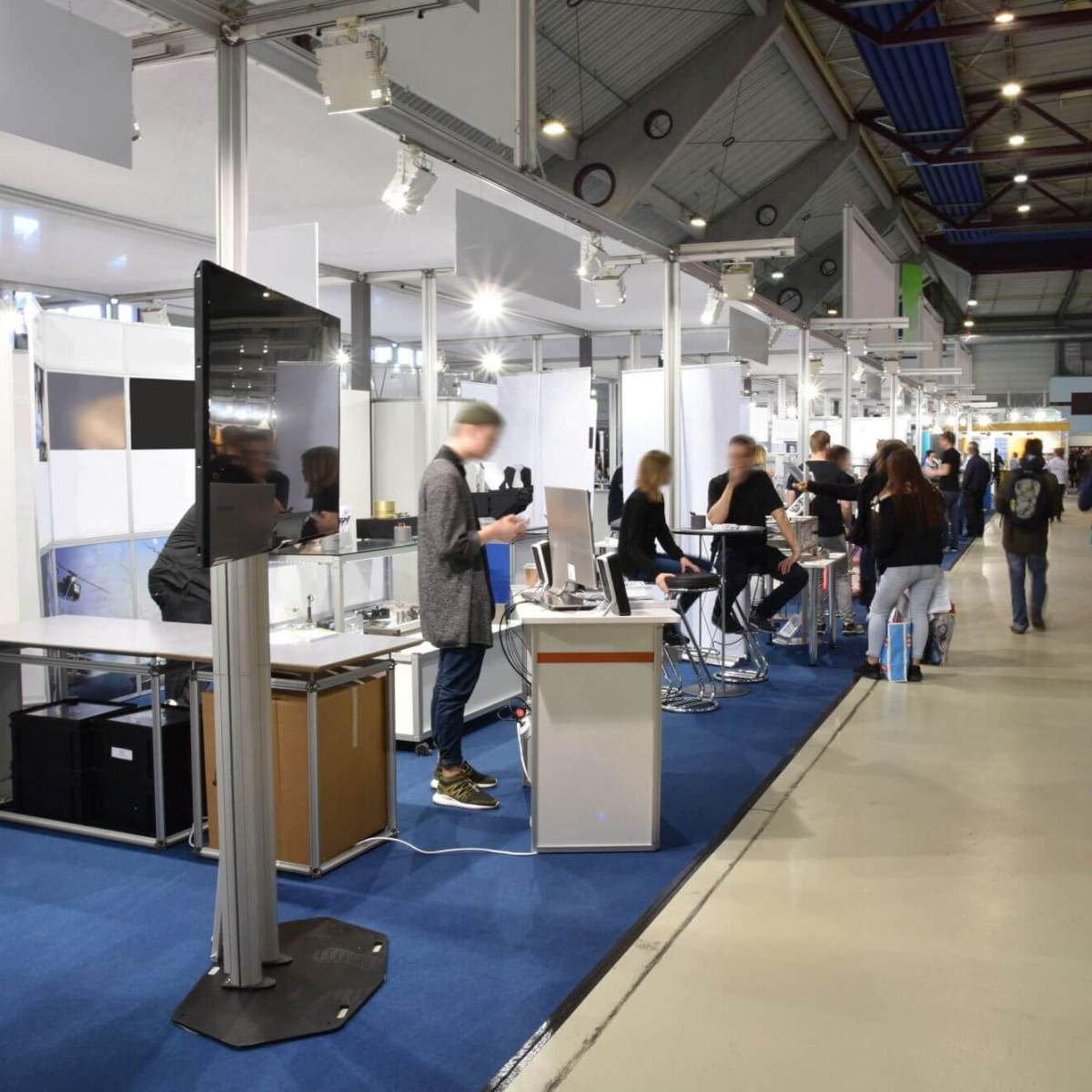 trade fair stands at conference exhibition