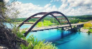 bridge across a river/gap