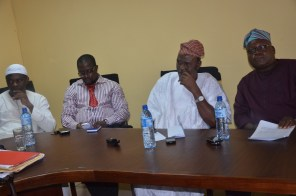 Hon. Shonubi (R), Engr. Dixon (2nd R) and other members of the club during the Press Conference