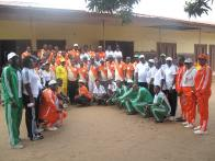 Participants in group photograph before the commencement of the walk