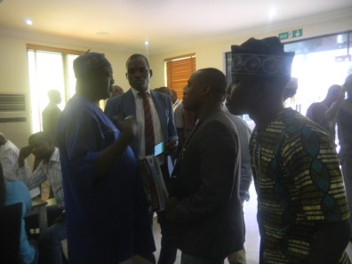 Alhaji Olowosago in discussion with Hon. JaPHETH Odesanya and Kunle Adelabu