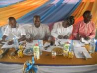 L-R, Abbey Shitta, treasurer, Amodu Ramon Abolanle, President, Kunle Adelabu, Secretary and Gbolu Jire, PRO
