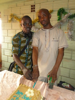 The celebrant and The Impact Reporter-in-Chief
