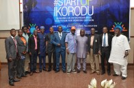 Hon. Benson in group photograph with state officials and other guests