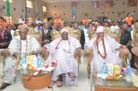 R-L, Oba Shotobi, Oba Agoro and Oba Ogunsanya