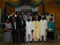 Invited guests, resource, Rector and other management and senior staff of the Lagos State Polytechnic in group photograph at the conference