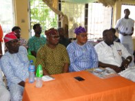 The Majority Leader, Lagos State House of Assembly, Hon. Sanai Agunbiade with Hon. Nurudeen Solaja and other members of the House at the ceremony