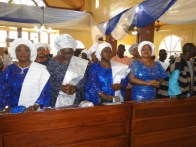 Honourable Commisioner for Wmen affairs, Hon. (Mrs) Lola Akande and other State Functionaries at the Service