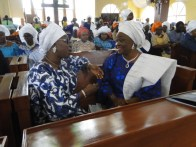 Mrs Ambode and Hon. Akande discussing during the Outing service