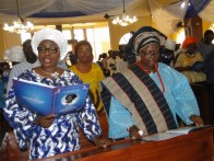 Mrs ambode and Hon. Akinsola during the Outing Service for the late mother of the latter.