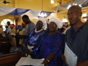Mrs Mustapha and other guests at the service
