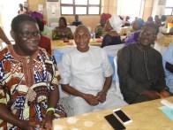 L-R, Mr Oluwatoyin Gafaar Bolowotan, Mayor Deen Sanwoola and a guest at the awards ceremony