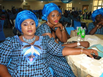 Mrs Kudirat Awobajo with other Onward Members at the occassion