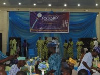 Chief Y.K. Ajao entertaining the guests