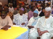 Chairman, Lagos State Civil Service Commission, Alhaji Babatunde Rotinwa and other political leaders at the occassion