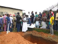 The remains of Geleti at final resting place