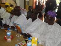 R-L, Former Deputy Governor, Prince Ogunleye, Alhaji Animashaun and Commissioner Ogunleye at the awards