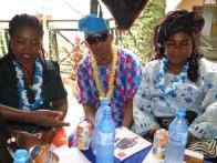Hon. Muhydeen Jokomba, former Chairman, Ikorodu North LCDA (m) and Princess Folashade olabanji-Oba (R)