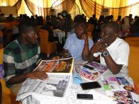 R-L, Mr Lekan, Interim Secretary, State Community Media Forum, an aide of the Governor, State of Osun, Tayo Odesanya and the Publisher, THE IMPACT, Kunle Adelabu