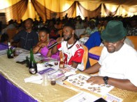 Judges (R-L) Ojo Martins, Richy Nanny, Arewa and Olabode Matthew during the contests