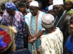 Oba Kasali with Odofin and other chiefs attending to the Apepe group