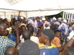 Apepe group enteratining Kabiyesi and other chiefs at the Adeboruwa palace, Igbogbo during the feast