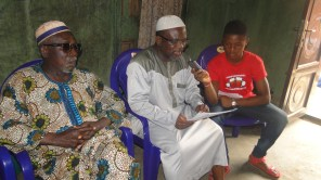 Alhaji Jelili Abubakar, the Treasurer of the Oshinbokunren Ruling House and other chieftains during the briefing