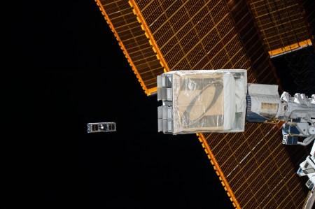 Cubesat being deployed