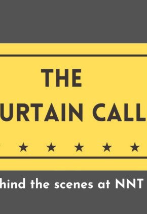 Logo for 'The Curtain Call'