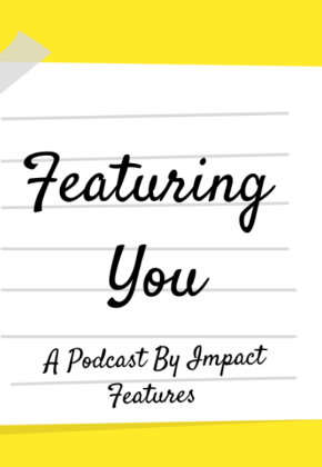 Featuring You podcast cover - yellow background with the title written on a white Post-It note