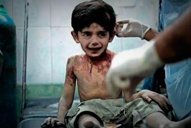 """""""Voy a contarle todo a Dios"""", dice un niño antes de morir en Siria"""