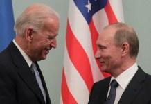 Joe Biden y Vladimir Puti