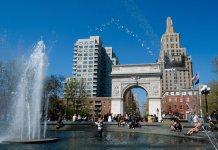 parque Washington Square en el Village de Nueva York