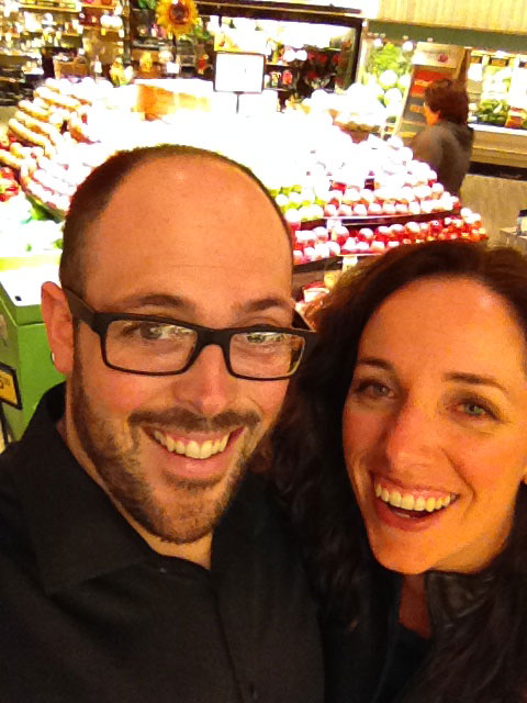 Mike and his wife, Lisa, on a romantic date at the grocery store.