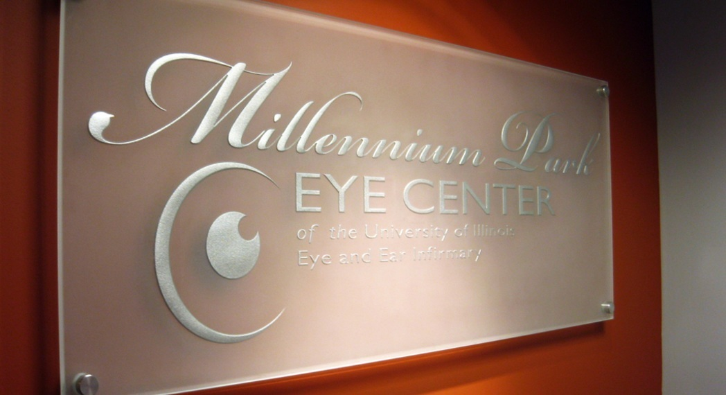 etched glass signs frosted