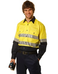 Impact Teamwear Ballarat - Workwear - HiVis L-S Shirt with Tape