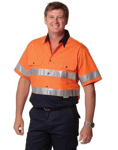 Impact Teamwear - Short Sleeve Safety Shirt with Reflective 3M Tape