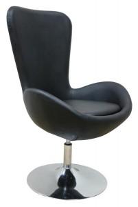 MF-6767 coctail fotel króm, fekete műbőr