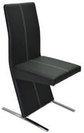 Fémvázas, kárpitozott szék, fekete
