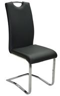 Szánkótalpas szék, fekete