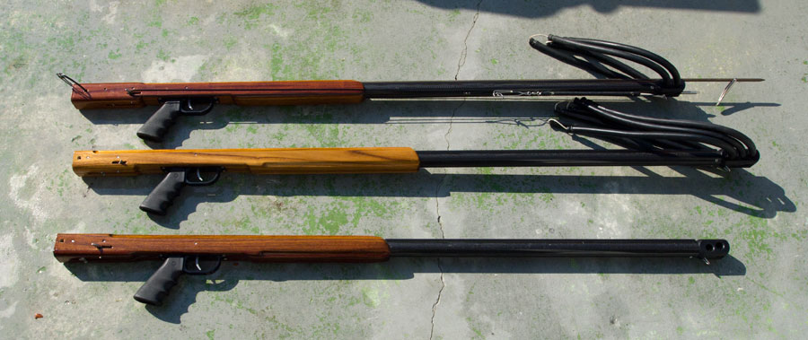 Custom hybrid spearguns with a variety of options