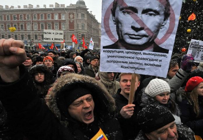 Resultado de imagen para Fotos de las Manifestaciones en Rusia