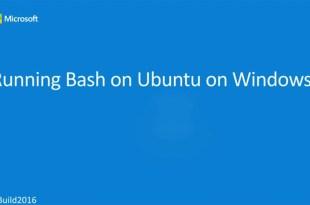 Linux command line on Microsoft Windows-10